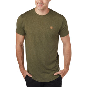 tentree Standard Camiseta Manga Corta Hombre, moss green heather